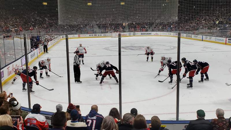 Seating view for Nationwide Arena Section 121 Row J Seat 6