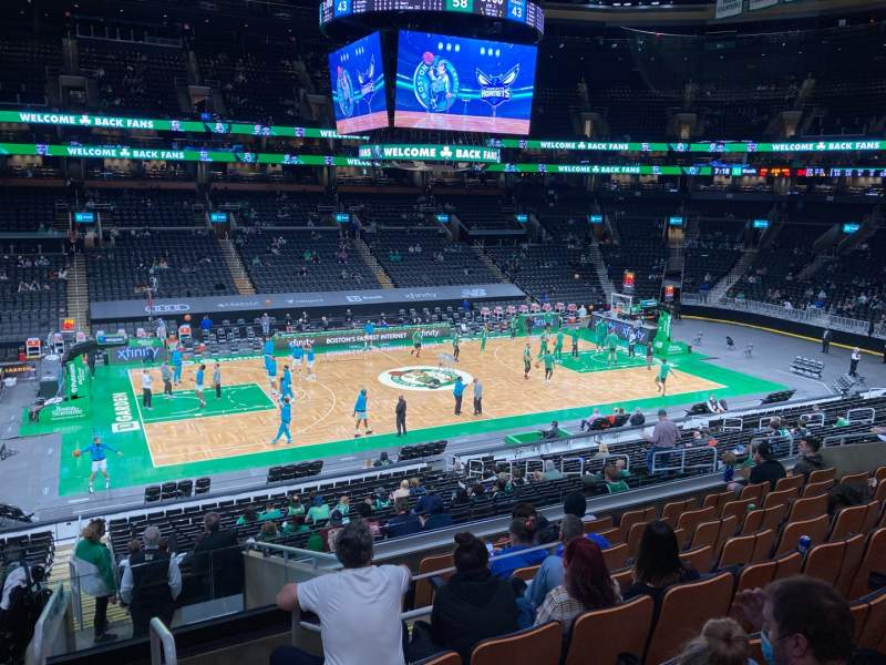 Seating view for TD Garden Section Club 145 Row H Seat 12