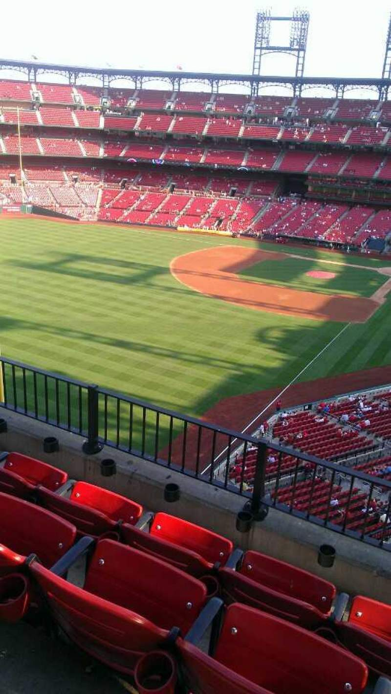 Seating view for Busch Stadium Section 370 Row 4 Seat 3