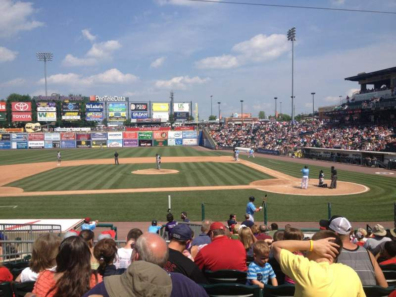 Seating view for Coca-Cola Park Section 116 Row T Seat 12