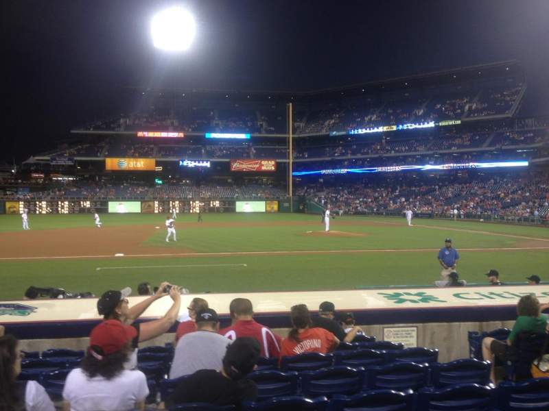 Seating view for Citizens Bank Park Section 131 Row 9 Seat 6