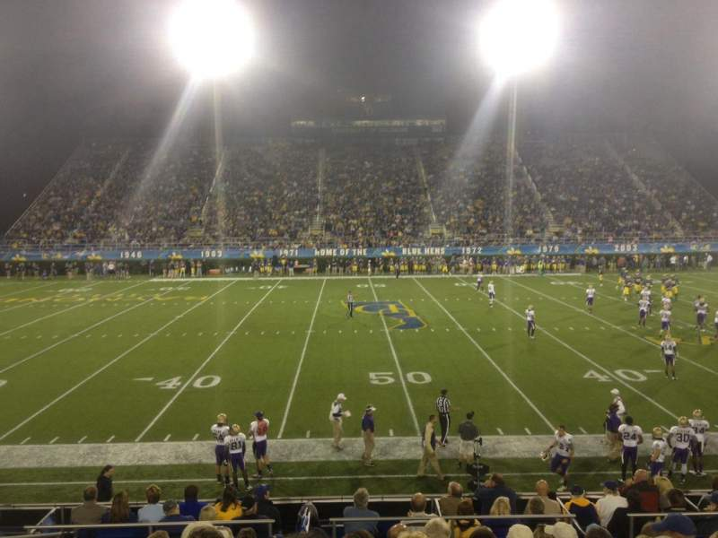 Seating view for Delaware Stadium Section K Row K Seat 23