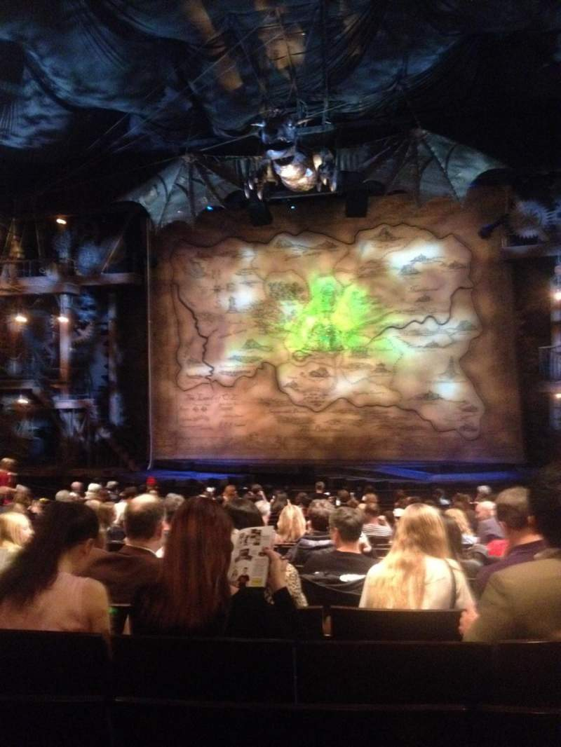 Gershwin Theatre Section Orchestra R Row Q Seat 115