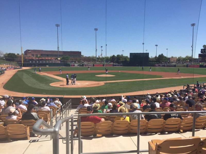 Seating view for Camelback Ranch Section 113 Row 4 Seat 11