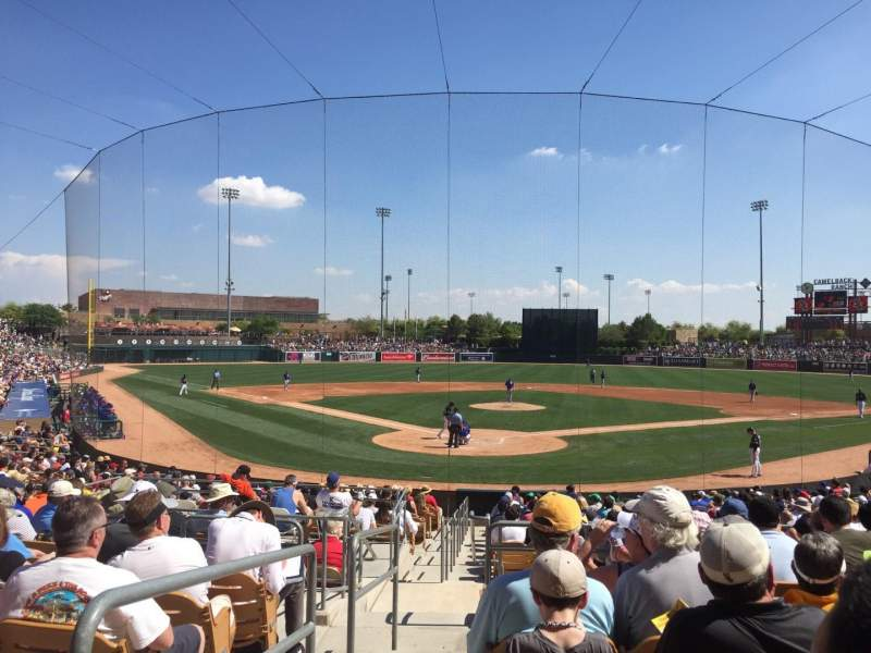 Seating view for Camelback Ranch Section 114 Row 10 Seat 15