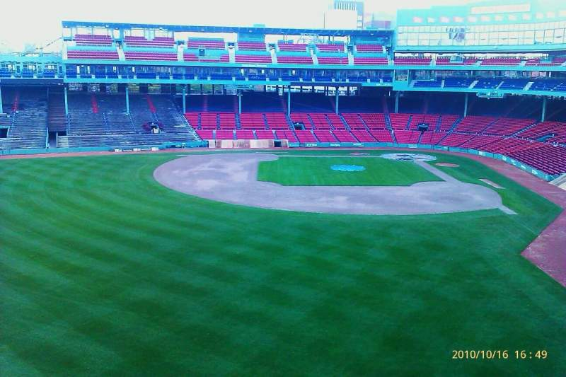 Seating view for Fenway Park Section monster seats