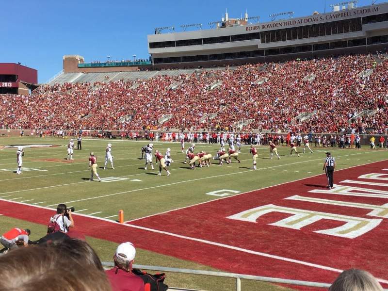 Seating view for Bobby Bowden Field at Doak Campbell Stadium Section 28 Row 7 Seat 14