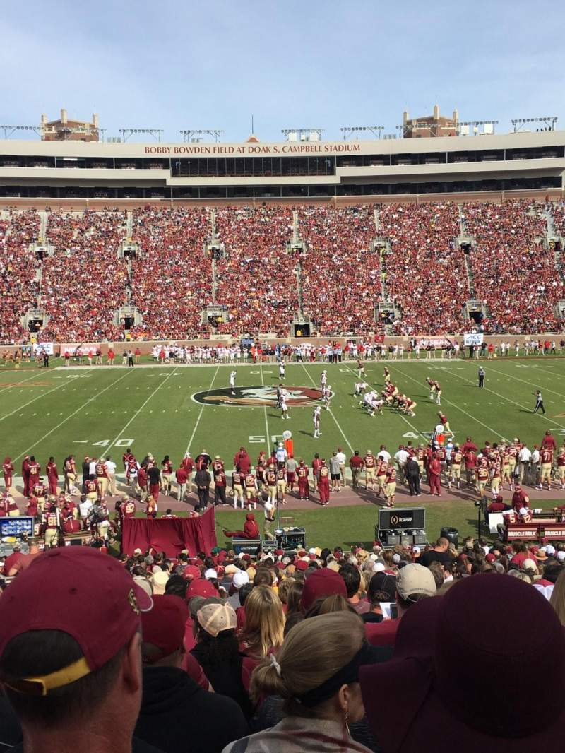 Seating view for Bobby Bowden Field at Doak Campbell Stadium Section 33 Row 33 Seat 17