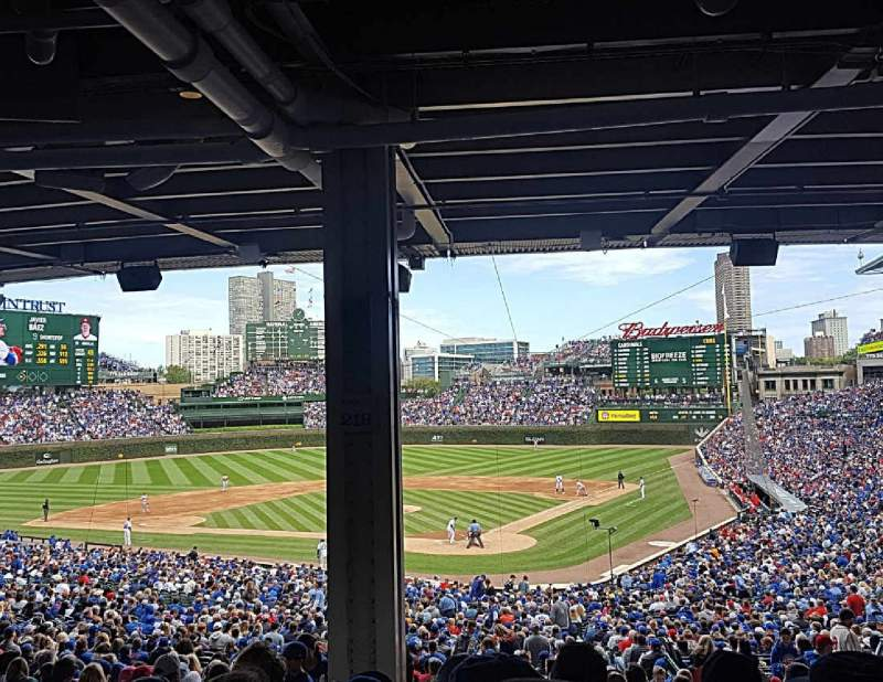Seating view for Wrigley Field Section 216 Row 15 Seat 4