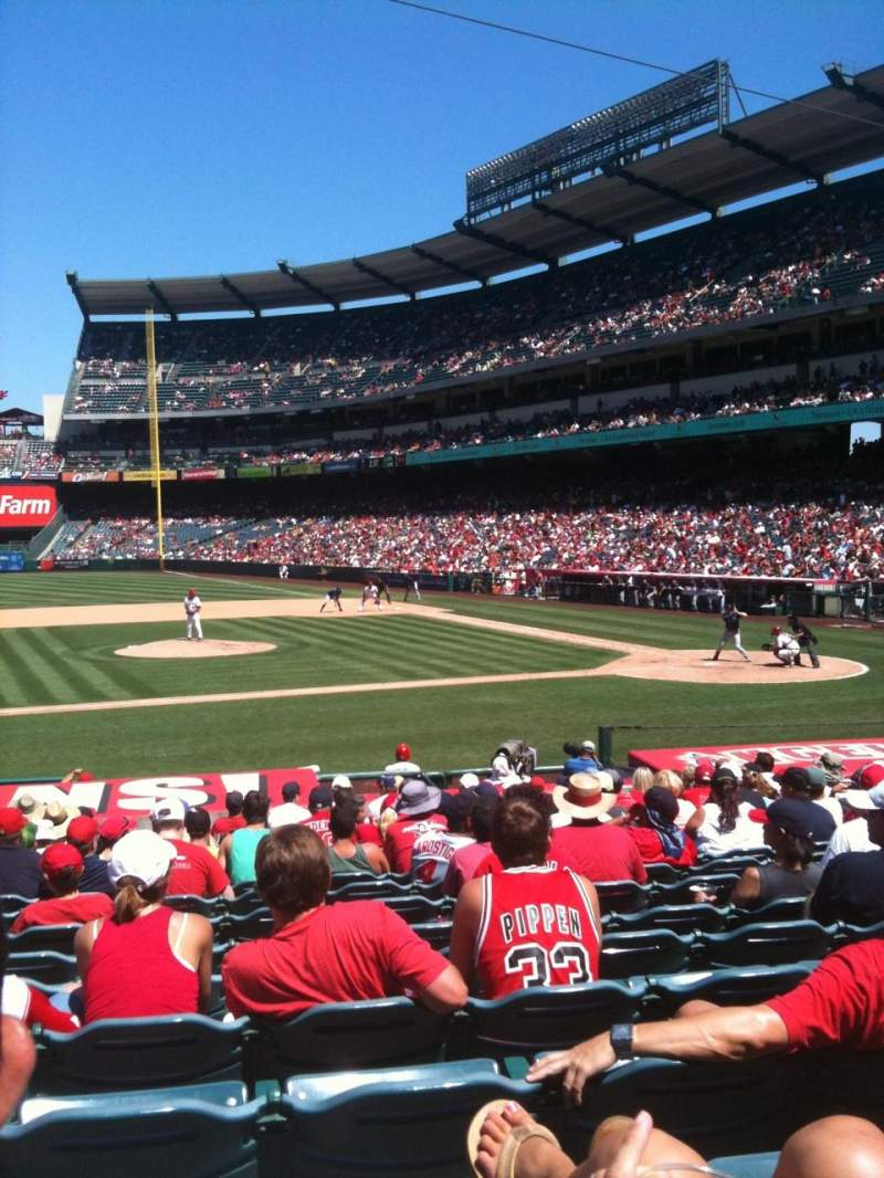 Seating view for Angel Stadium Section 110