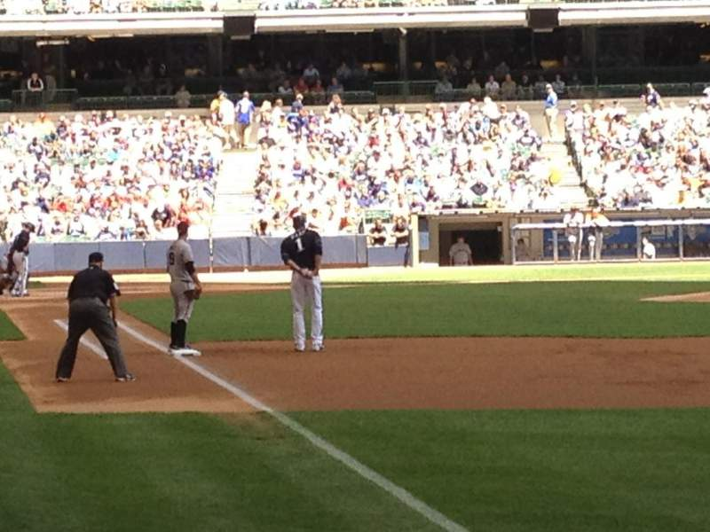 Seating view for Miller Park Section 107 Row 9 Seat 3