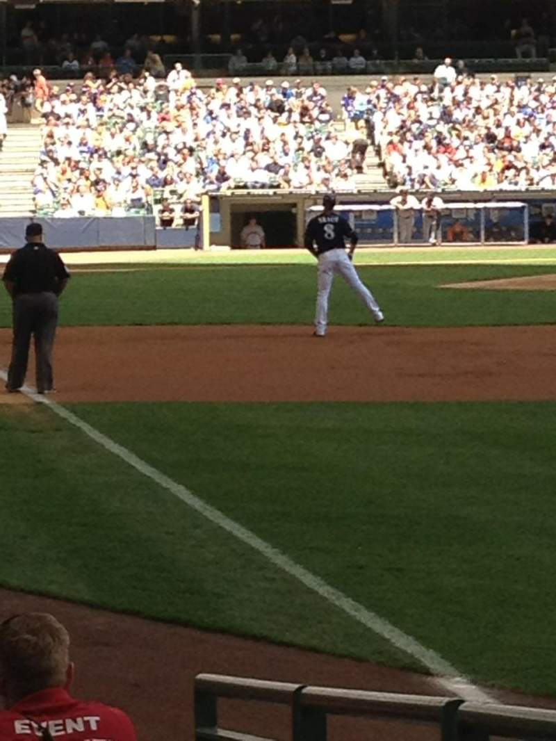 Seating view for Miller Park Section 107 Row 8 Seat 2