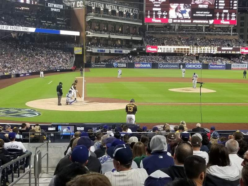 Seating view for PETCO Park Section FV105 Row 16 Seat 1