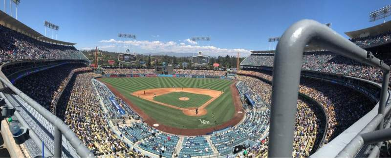 Dodger Stadium, section 5RS, home of Los Angeles Dodgers