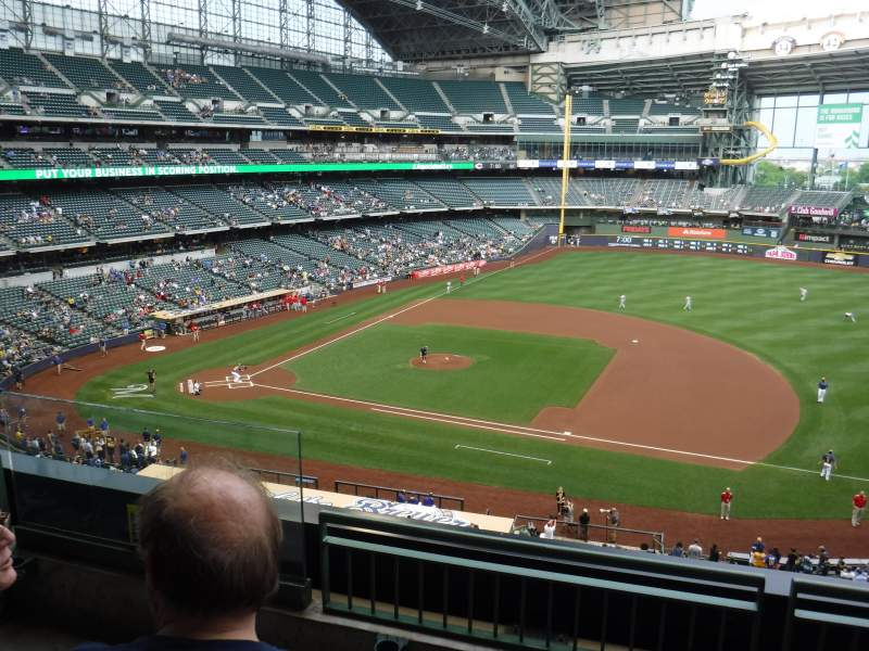 Seating view for Miller Park Section 318 Row 3 Seat 3