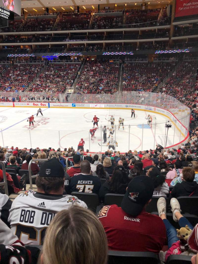 Gila River Arena Section 109 Home Of Arizona Coyotes