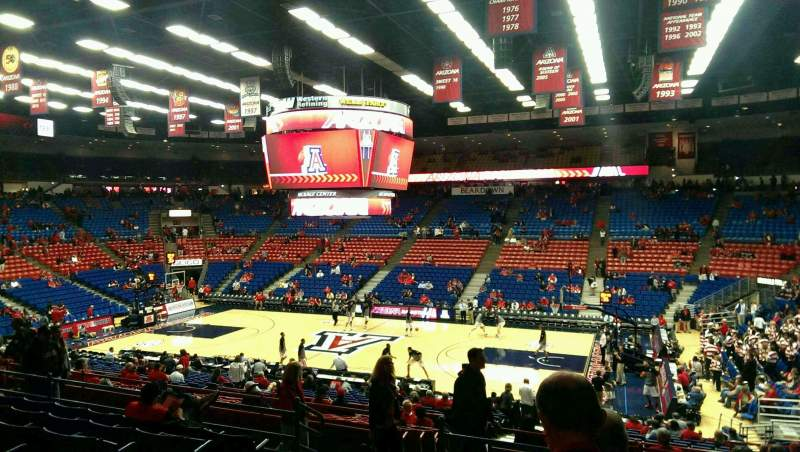 Seating view for McKale Center Section MI 1 Row 23 Seat 15