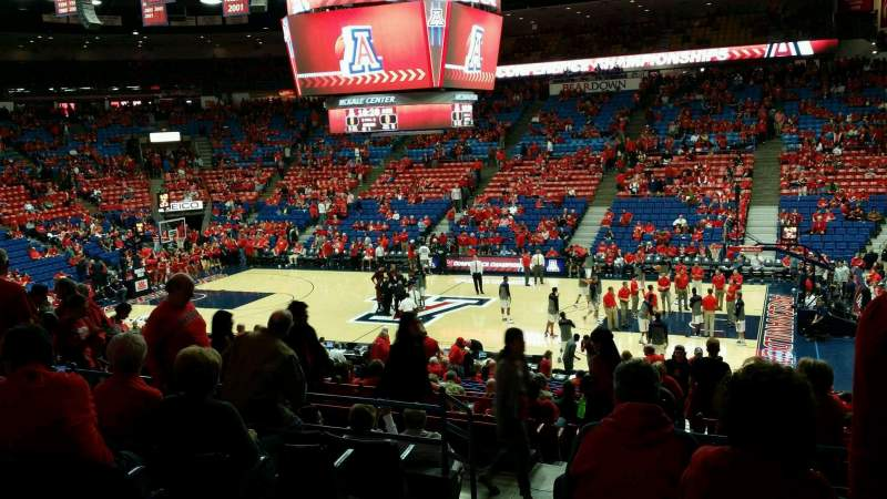 Seating view for McKale Center