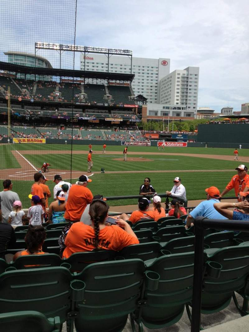 Seating view for Oriole Park at Camden Yards Section 30 Row 10  Seat 1