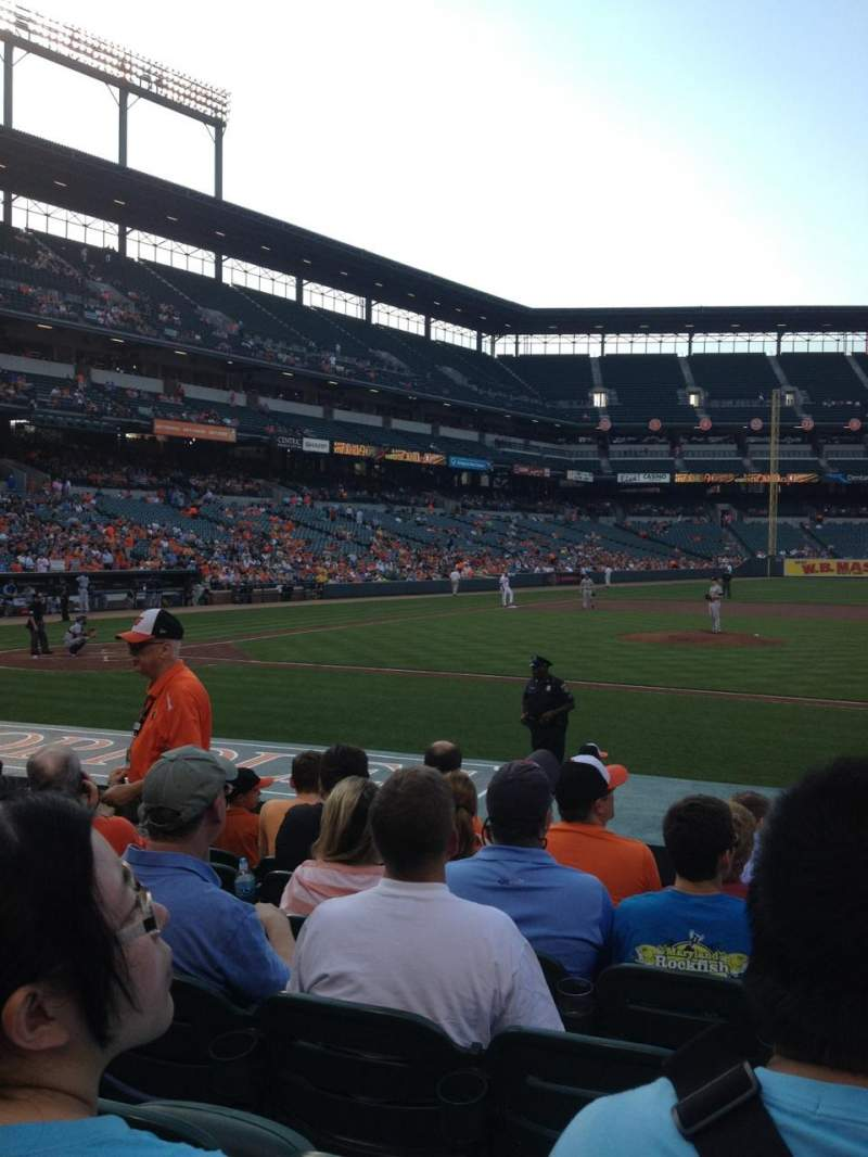 Seating view for Oriole Park at Camden Yards Section 22 Row 7 Seat 5