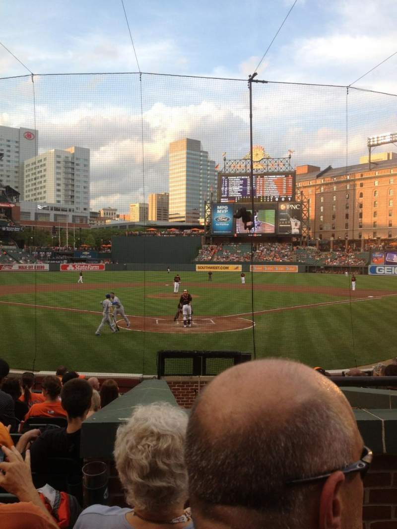 Seating view for Oriole Park at Camden Yards Section 38 Row 14 Seat 1