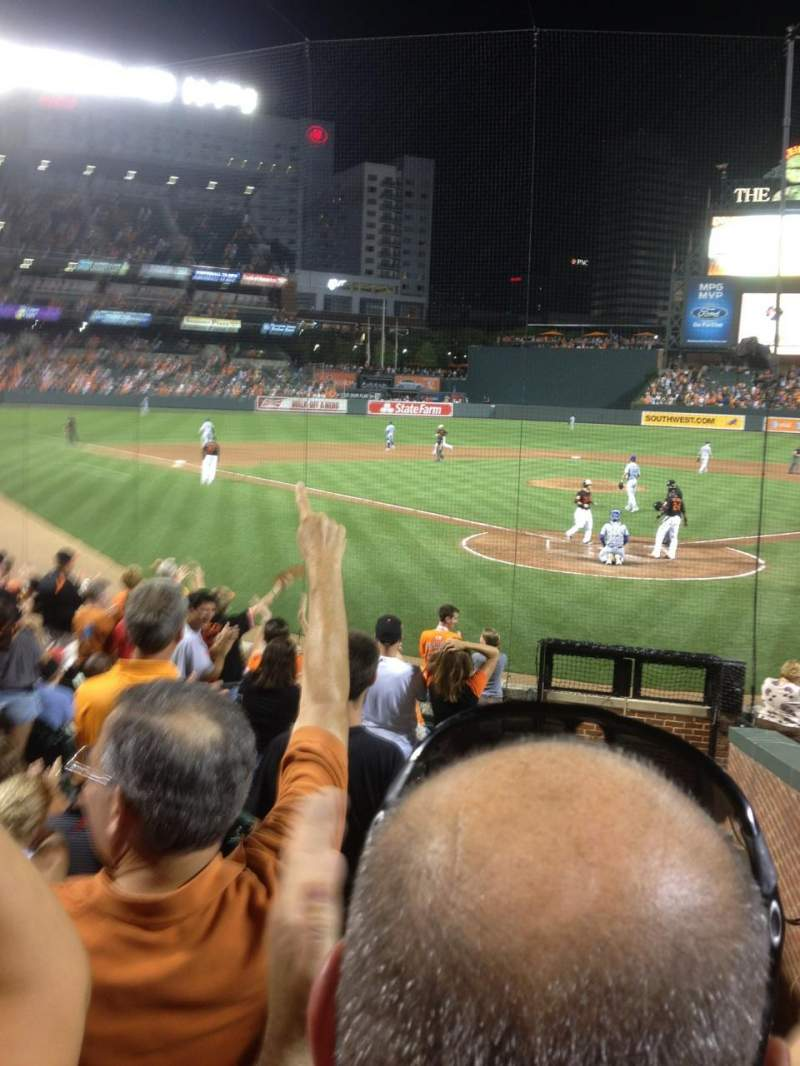 Oriole Park At Camden Yards Section 38 Row 14 Seat 1