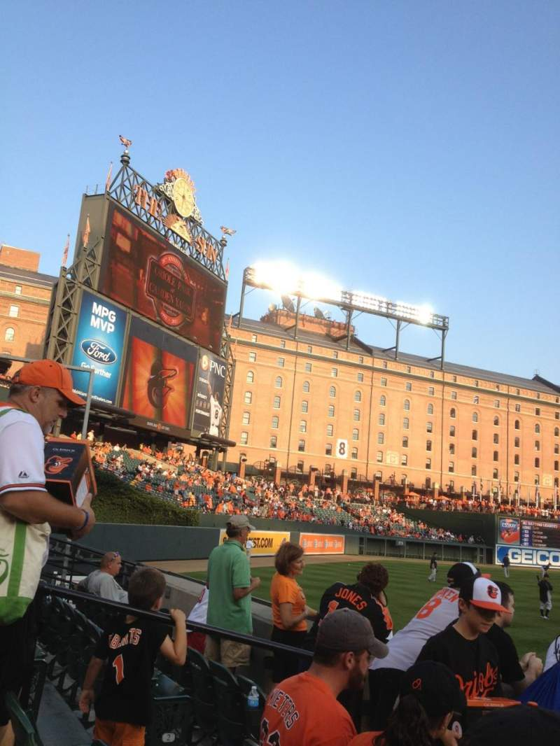 Seating view for Oriole Park at Camden Yards Section 84 Row 4 Seat 17