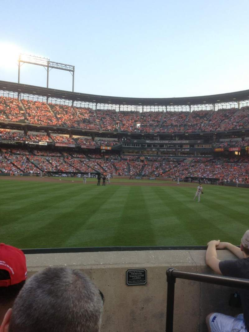 Seating view for Oriole Park at Camden Yards Section 86 Row 4 Seat 1