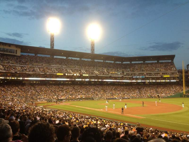 Seating view for PNC park Section 105 Row V Seat 1