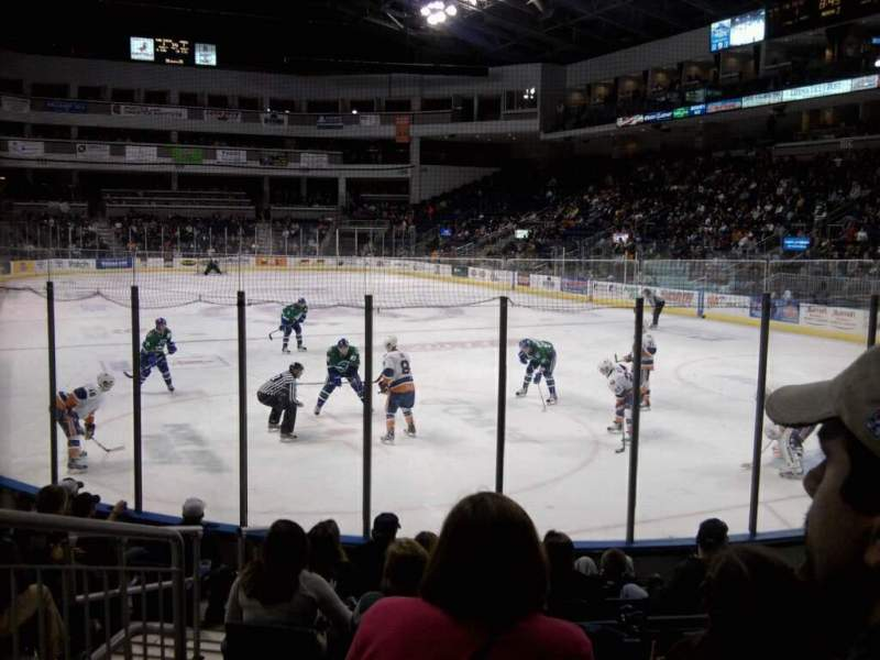 Seating view for Webster Bank Arena Section 119 Row d Seat 10