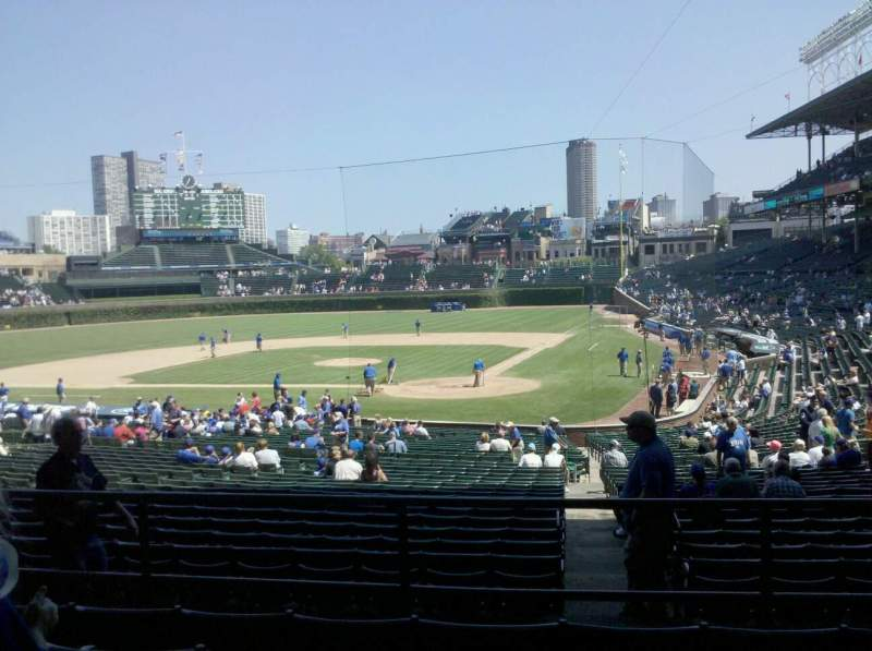 Seating view for Wrigley Field Section 218 Row 5 Seat 10