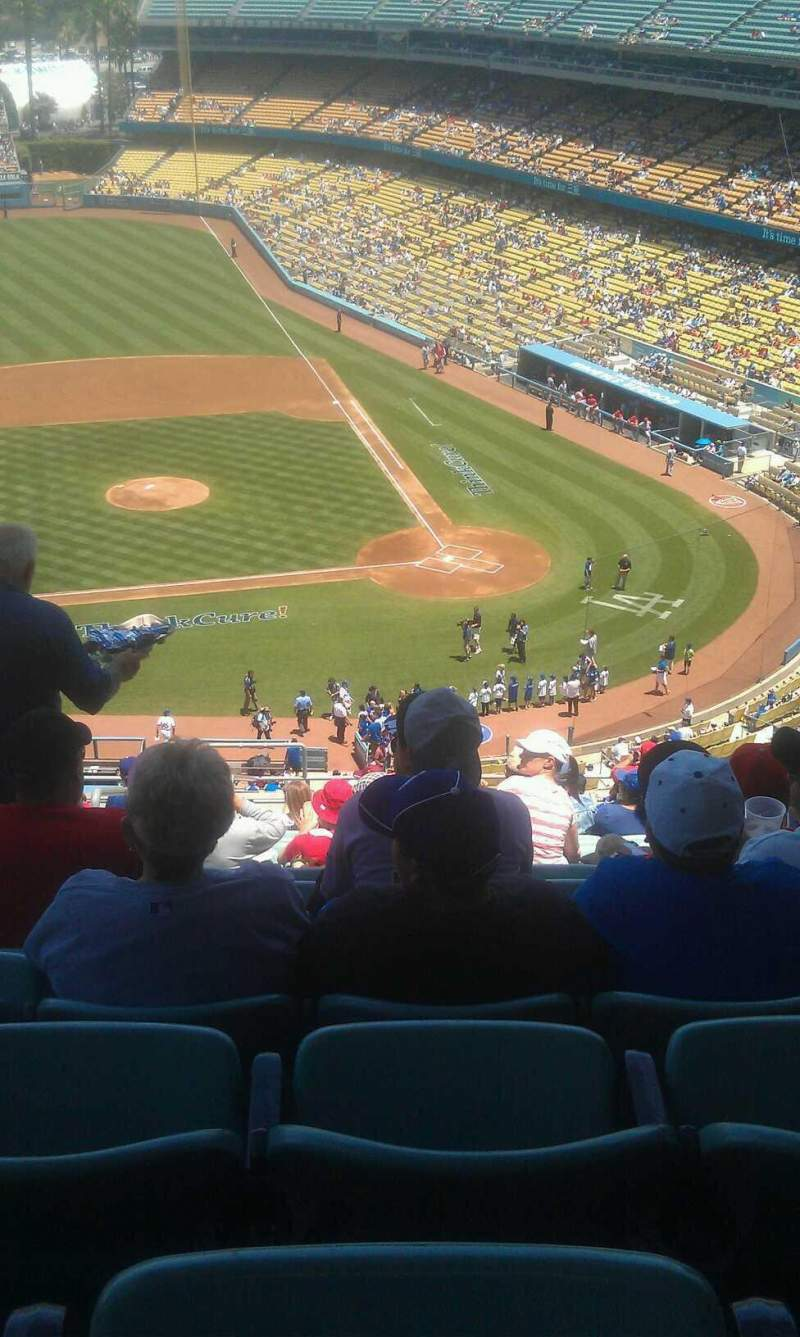 Seating view for Dodger Stadium Section 11rs Row s Seat 22