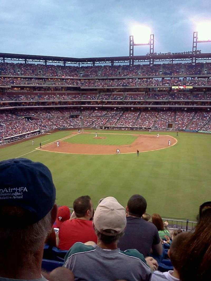 Seating view for Citizens Bank Park Section 202 Row 7 Seat 9