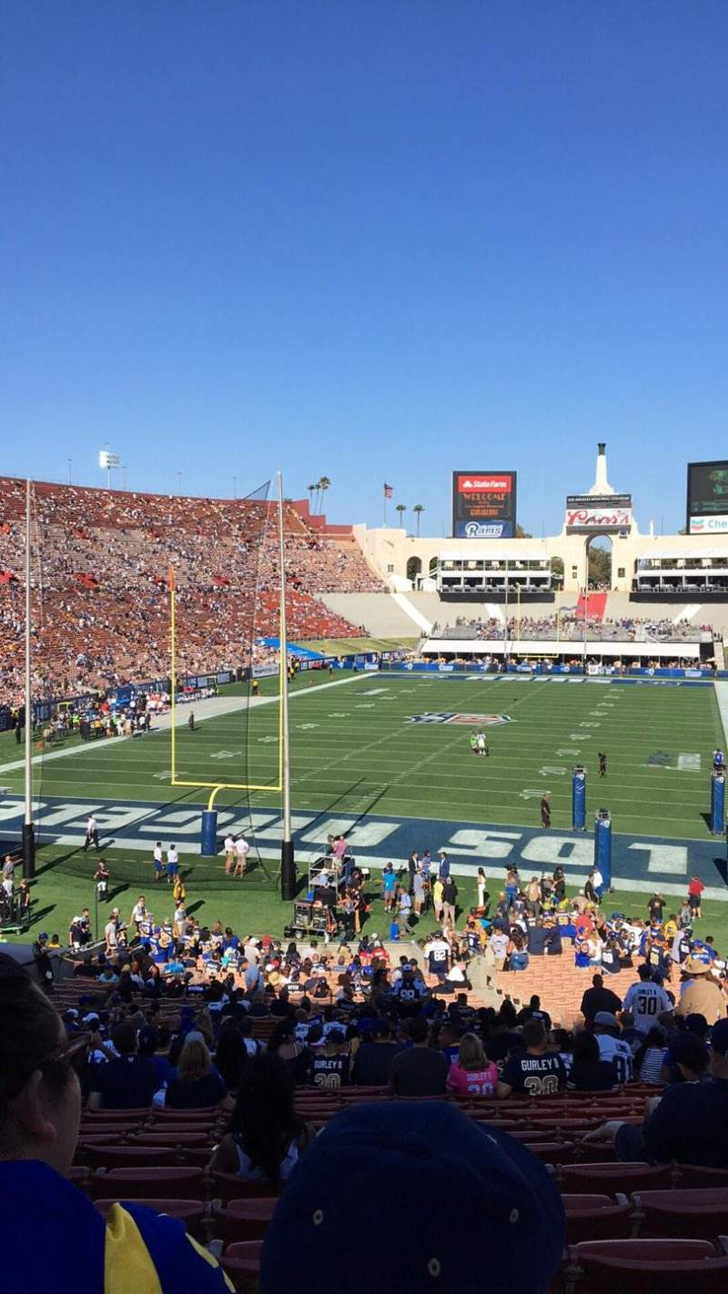 Seating view for Los Angeles Memorial Coliseum Section 13L Row 42 Seat 12