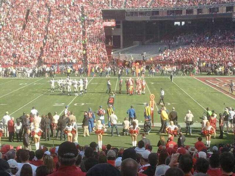 Seating view for Candlestick Park Section lb12 Row v Seat 10