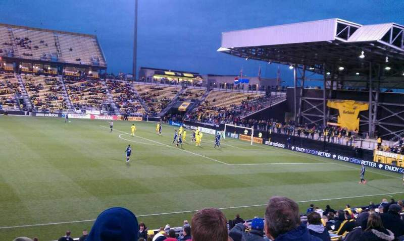 Seating view for Mapfre Stadium Section 105 Row 19 Seat 19