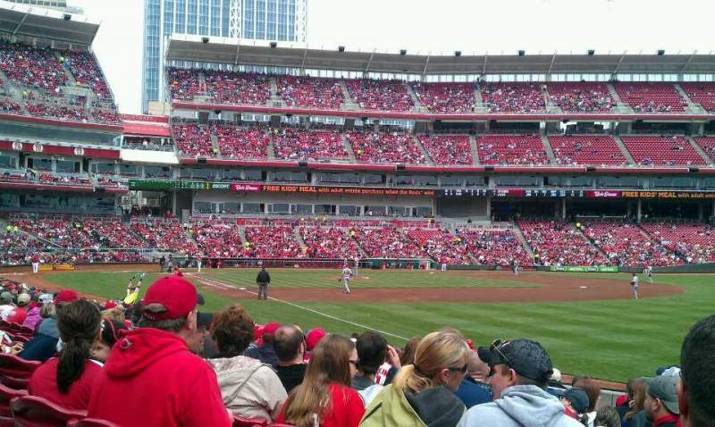 Seating view for Great American Ball Park Section 136 Row P Seat 14