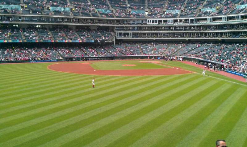 Seating view for Progressive Field Section 182 Row G Seat 3