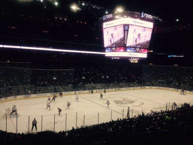 Seating view for Nationwide Arena Section C7 Row D Seat 2