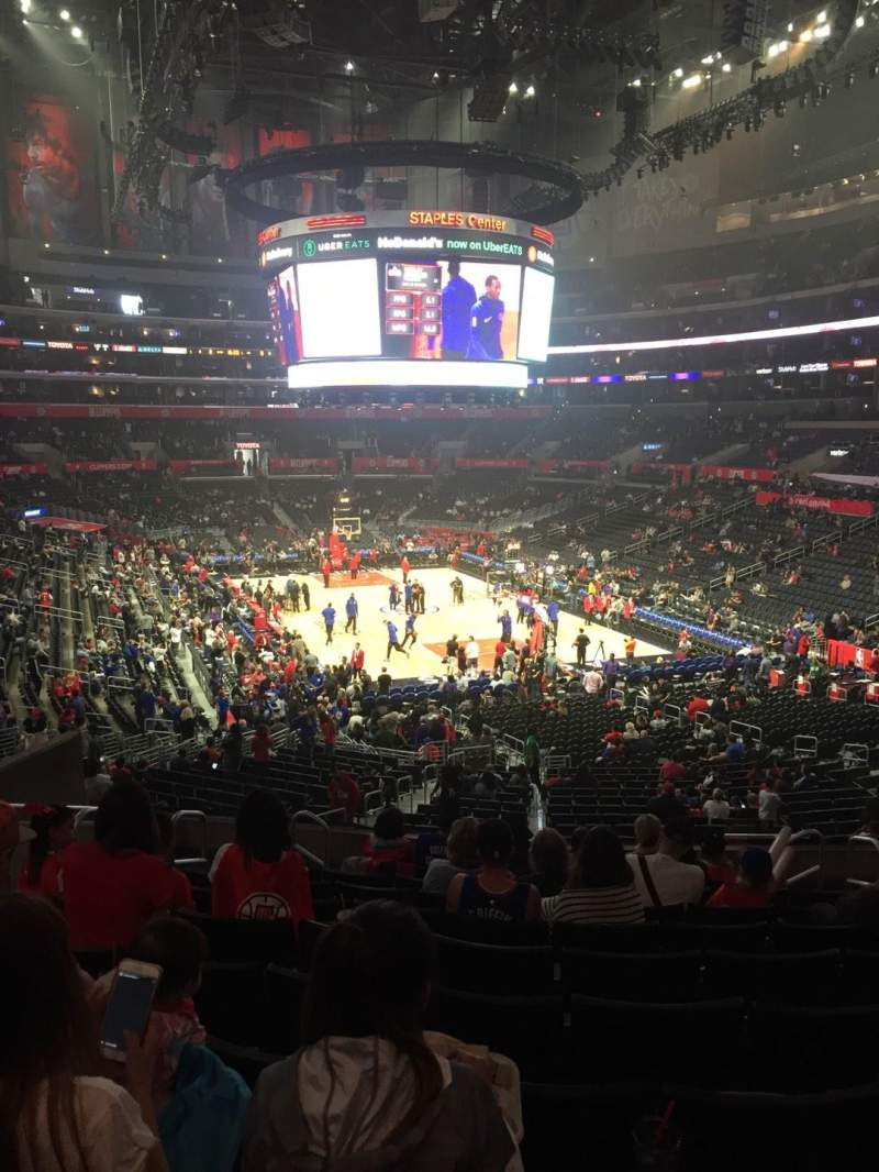 Seating view for Staples Center Section 219 Row 10 Seat 11