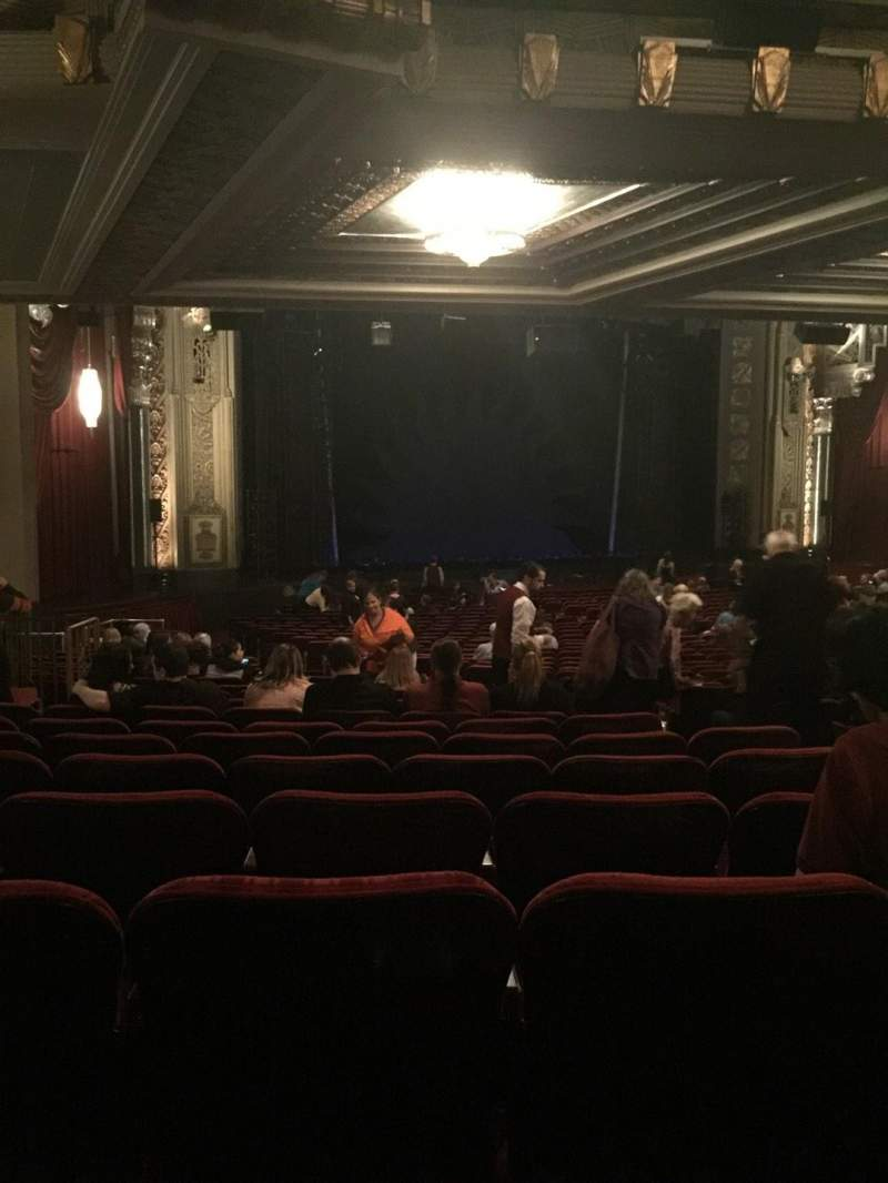 Seating view for Hollywood Pantages Theatre Section Orchestra L Row VV Seat 13