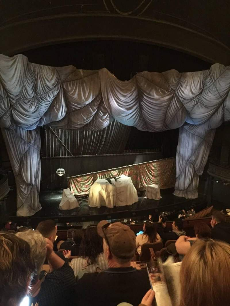 Seating view for Majestic Theatre Section FMEZO Row G Seat 2