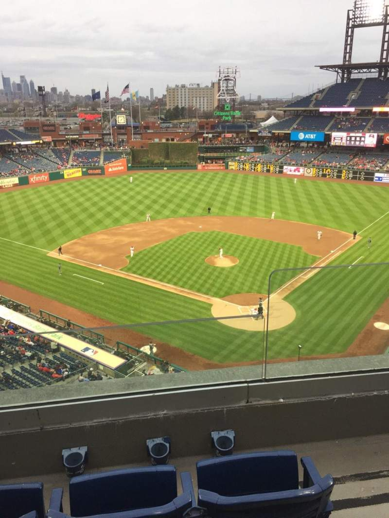 Seating view for Citizens Bank Park Section 322 Row 3 Seat 2