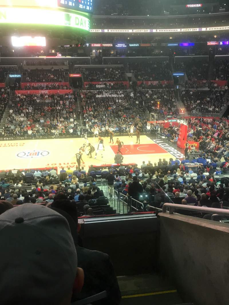 Seating view for Staples Center Section PR5 Row 4 Seat 1