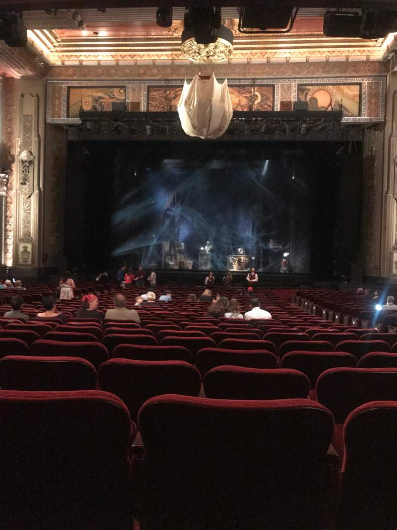 Seating view for Hollywood Pantages Theatre Section Orchestra C Row PP Seat 104