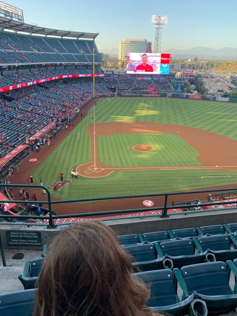 Seating view for Angel Stadium Section V423 Row E Seat 2