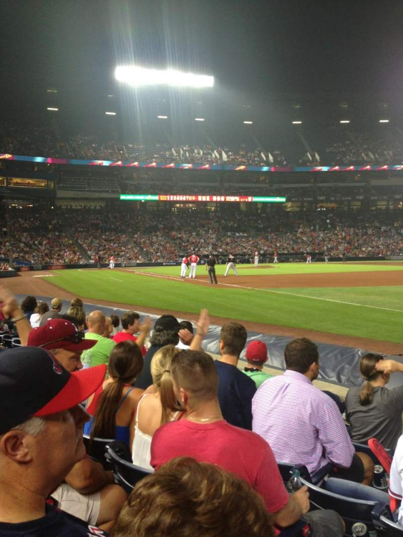 Seating view for Turner Field Section 121L Row 5 Seat 104