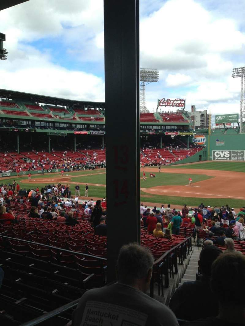 Seating view for Fenway Park Section Grandstand 13 Row 3 Seat 18