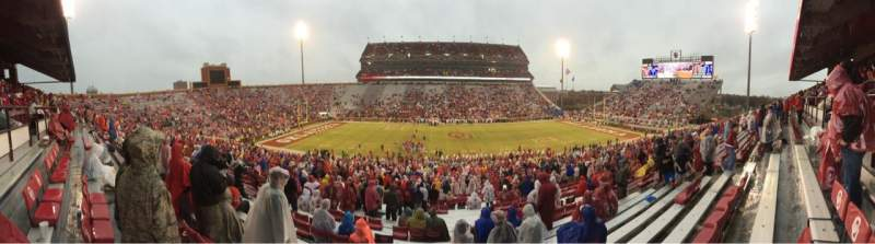 Seating view for Gaylord Memorial Stadium Section 6 Row 56 Seat 13