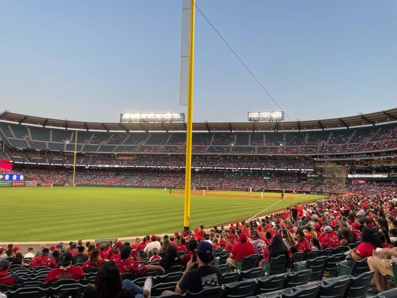 Seating view for Angel Stadium Section 102 Row S Seat 15